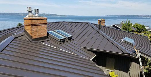 dark brown metal roof